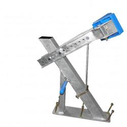 Potence complète en 60x60 mm pour timon en 60x120 mm - pour voilier