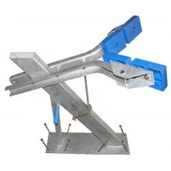 Potence complète 100x50 mm pour timon en 80x120 mm - pour voilier