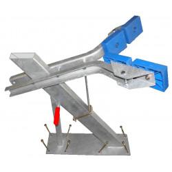 Potence complète 100x50 mm pour timon en 120x120 mm - pour voilier