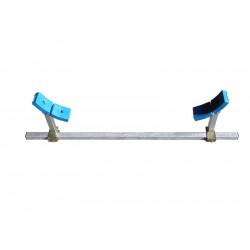 Traverse avant complète avec ensemble patins courbés 1600x40x40mm pour remorque bateau et voilier
