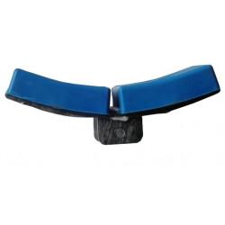 Ensemble 2 patins courbés 130x100mm pour butée d'étrave en 40x40mm