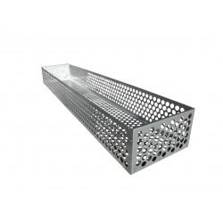 Coffre en tôle ajourée galvanisée 2.30m x 0.38m