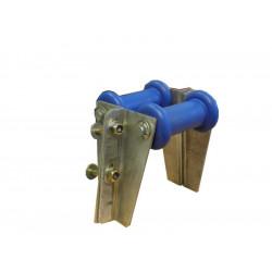 Ensemble bobine double de soutien pour tube en 100x50