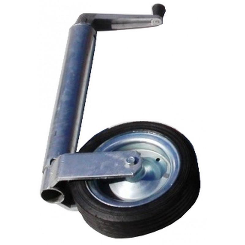Roue jockey diamètre 60mm avec roulette 200x50mm jante en acier