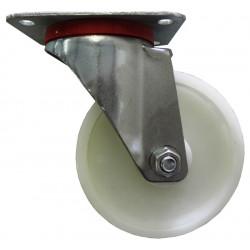 Roulette pivotante diamètre 125x40mm sans frein