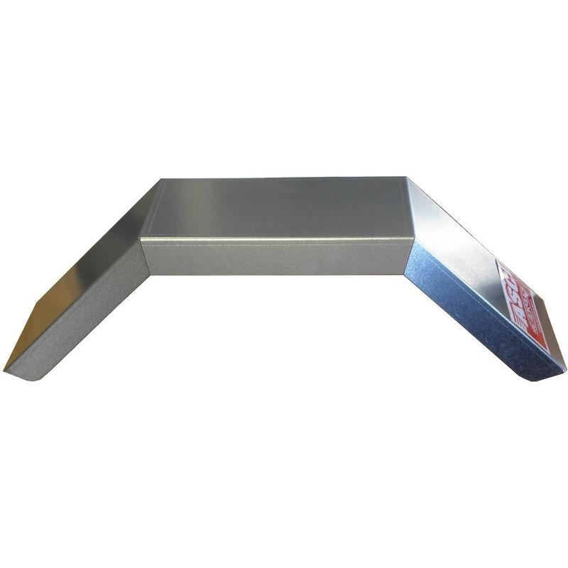 Garde boue 13 pouces angulaire en acier galvanisé - 590x175x125 mm - NP