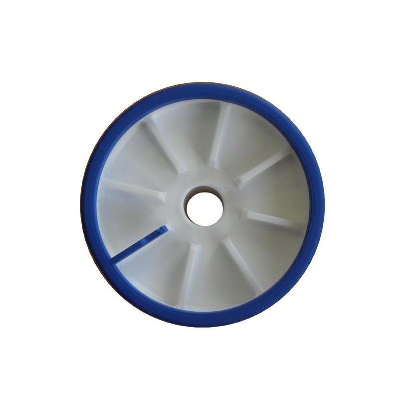 Galet bi-matière bleu/blanc diamètre 100mm