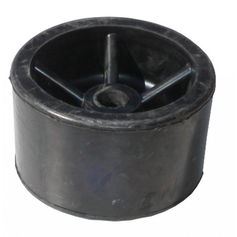 Galet caoutchouc Noir diamètre 120mm pour anciennes remorques CBS al. 17mm
