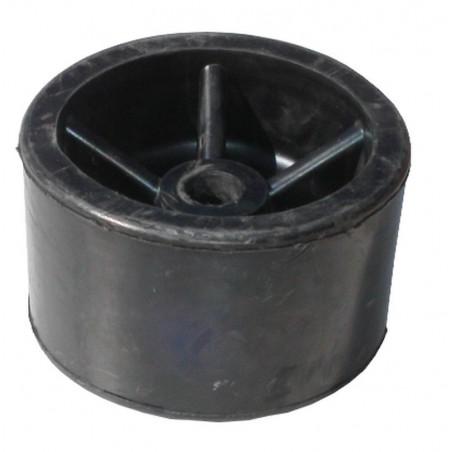 Galet caoutchouc Noir diamètre 120mm pour anciennes remorques CBS