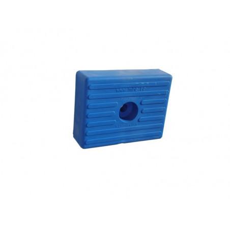 Patin moulé PM 130x100 mm Bleu