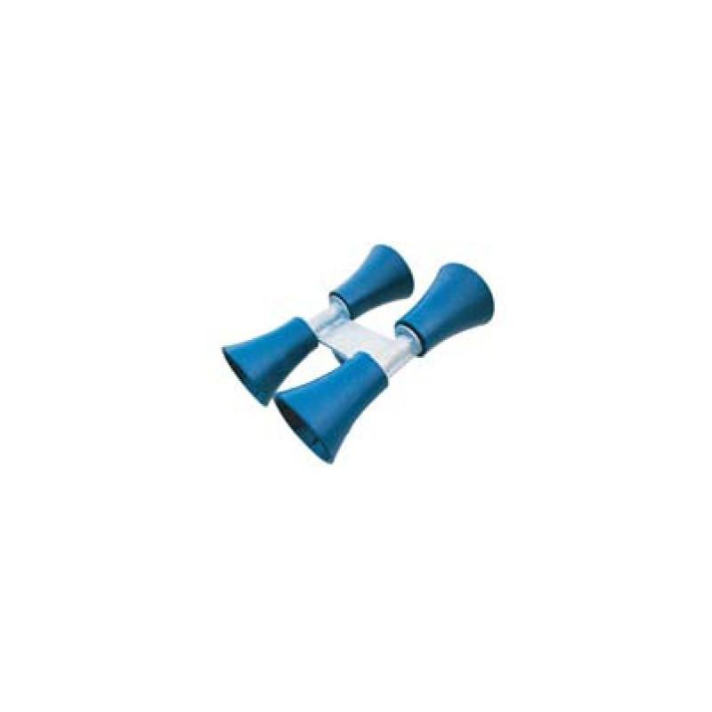 Ensemble 4 tulipes plastique bleu pour chandelle 40x40mm