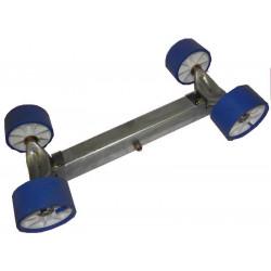 Balancier double pivotant 4 galets 100mm pour chandelle 40x40mm - nouveau modèle