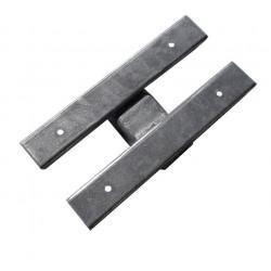 Ferrure double pour ensemble 4 patins 130mm ou 2 patins 300mm pour chandelle en 40x40mm ou 50x50mm