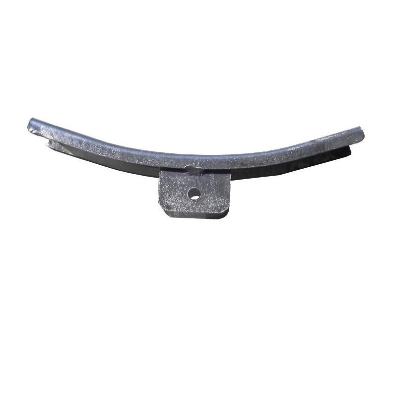Ferrure courbée pour ensemble 2 patins 130mm ou 1 patin 300mm pour chandelle 40x40mm