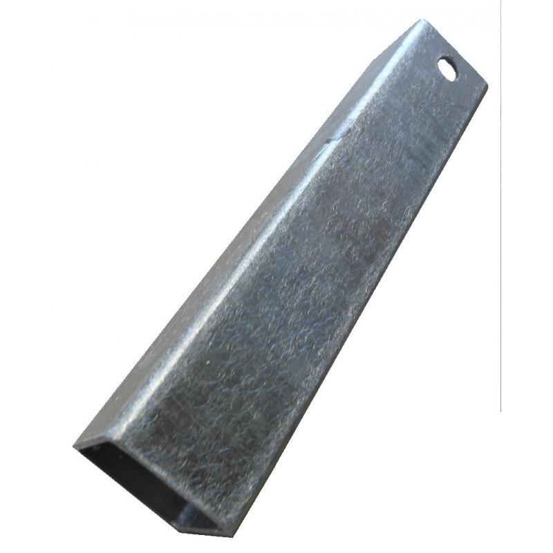 Chandelle galvanisée en carré 40x40 400mm