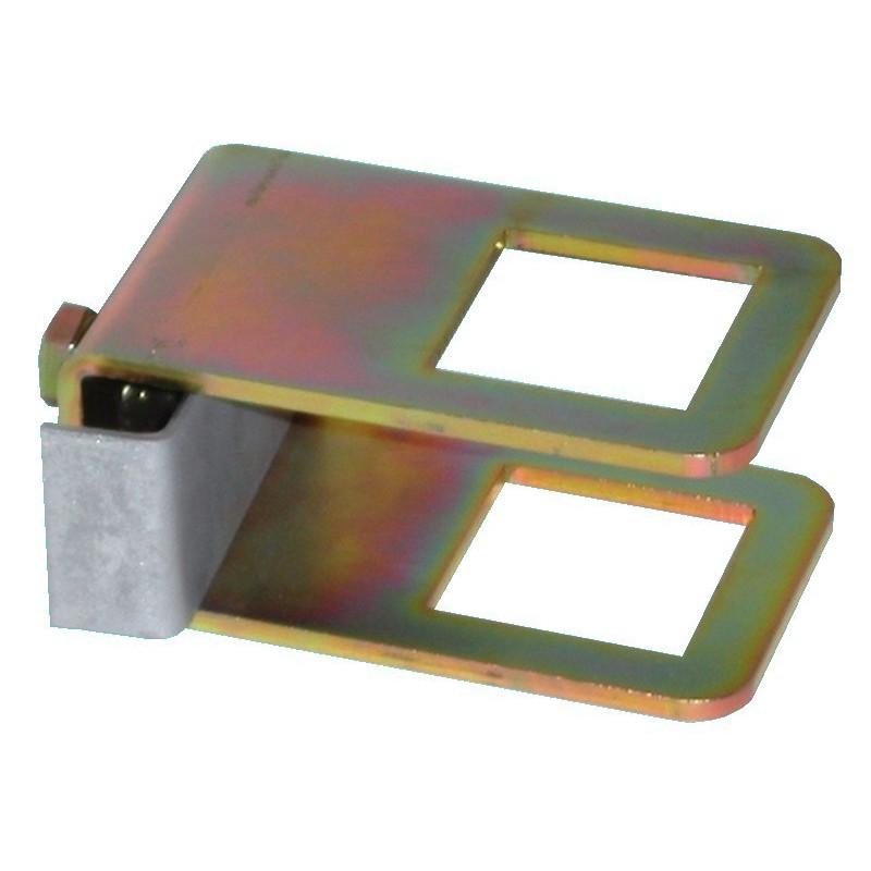 Collier de serrage 40x40 + contre plaque + vis