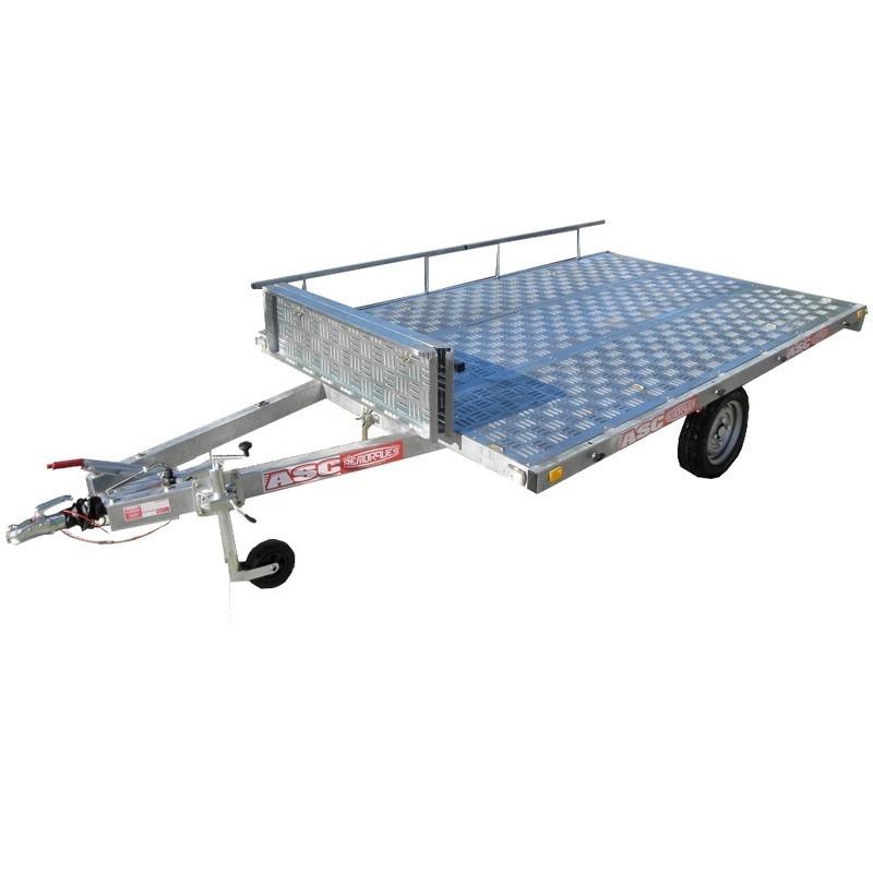 Remorque plateau PL0931F - plateau de 3,0x2,00m - PTAC 1250kg