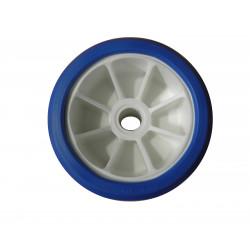 Galet bi-matière bleu/blanc 120 mm - alésage 17