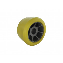galet bi matière jaune/gris diamètre 90 pour remorque PAM