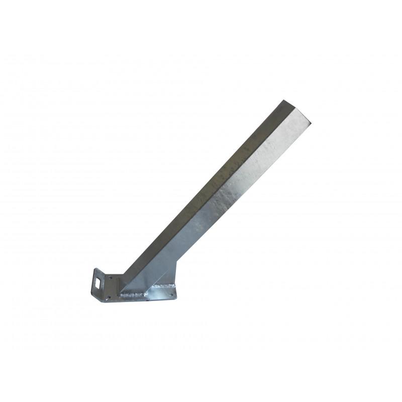 Potence nue en tube 60x60 mm pour timon en 60 mm de large