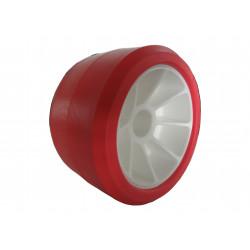 galet bi-matière rouge/blanc diamètre 120mm pour remorque MECANOREM