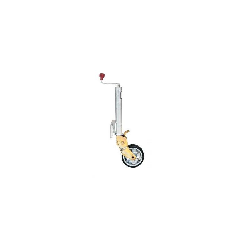 Roue jockey semi-automatique diamètre 60mm avec roulette 200x50 jante en acier