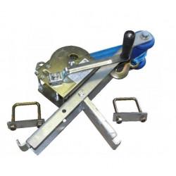 Potence complète en tôle pliée pour timon en 60x80 mm