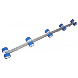 Rampe de rouleaux en 1.80m, 3 fixations (la paire)