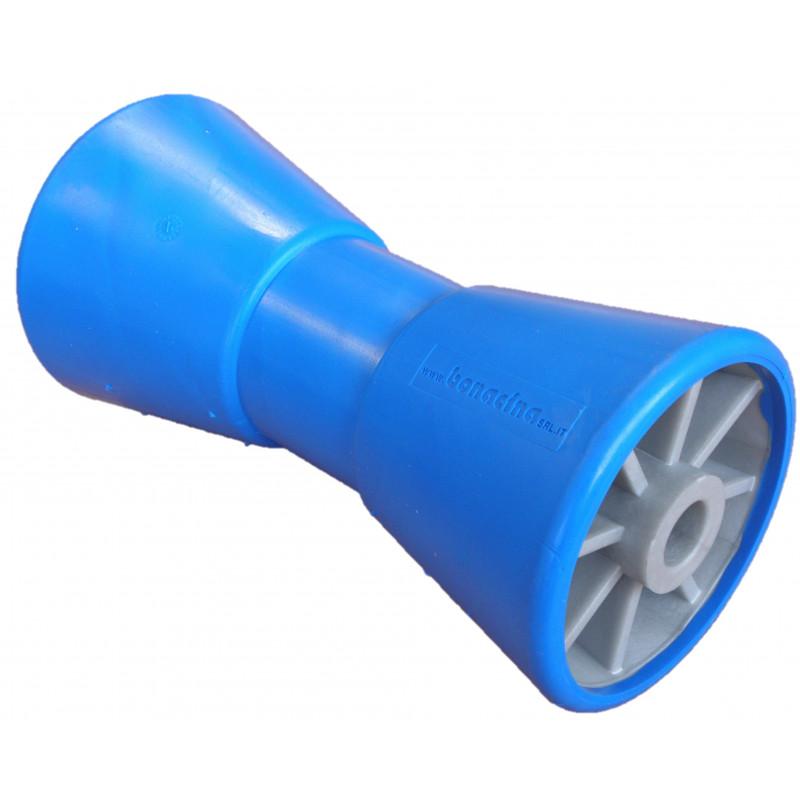 Diabolo bi-matière bleu/gris en 206mm Alésage 17 mm