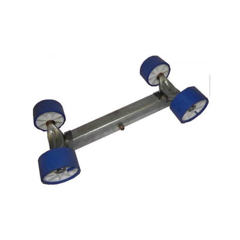 Balancier double pivotant 4 galets 100mm pour chandelle 50x50mm - nouveau modèle