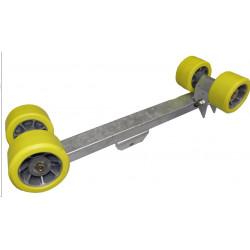 Balancier double pivotant 4 galets en 90 mm PAM pour chandelle 40x40mm - nouveau modèle