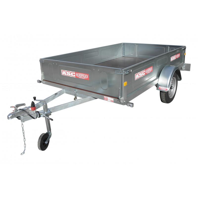 Remorque bagagère BAG0351 - caisse de 2,0x1,23m - PTAC 500kg