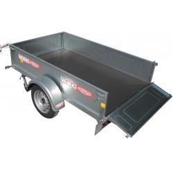 Remorque bagagère ASC BAG0551 caisse de 2,5x1,61m  PTAC 750kg