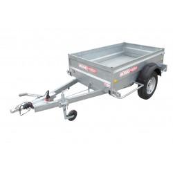 Remorque utilitaire UTI0771F - caisse de 2,0x1,25m - PTAC 1060kg