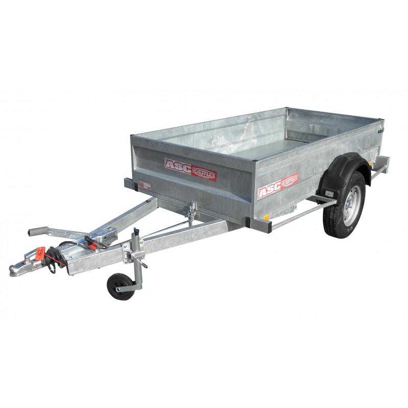 Remorque utilitaire UTI1301F - caisse de 2,5X1,25m - PTAC 1600kg