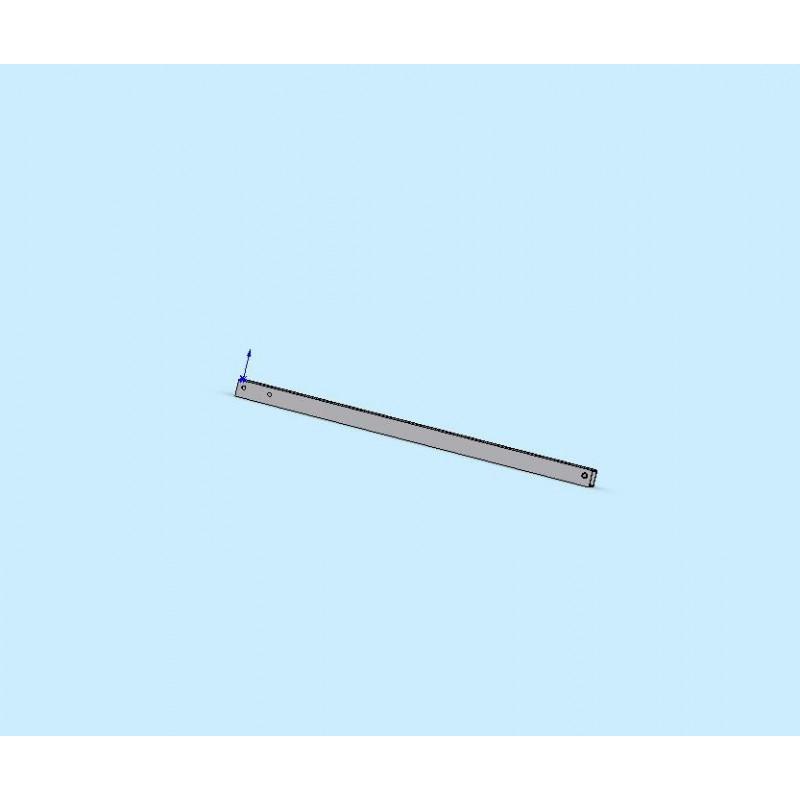 Timon droit en 60x60mm de 2m de long pour remorque porte moto