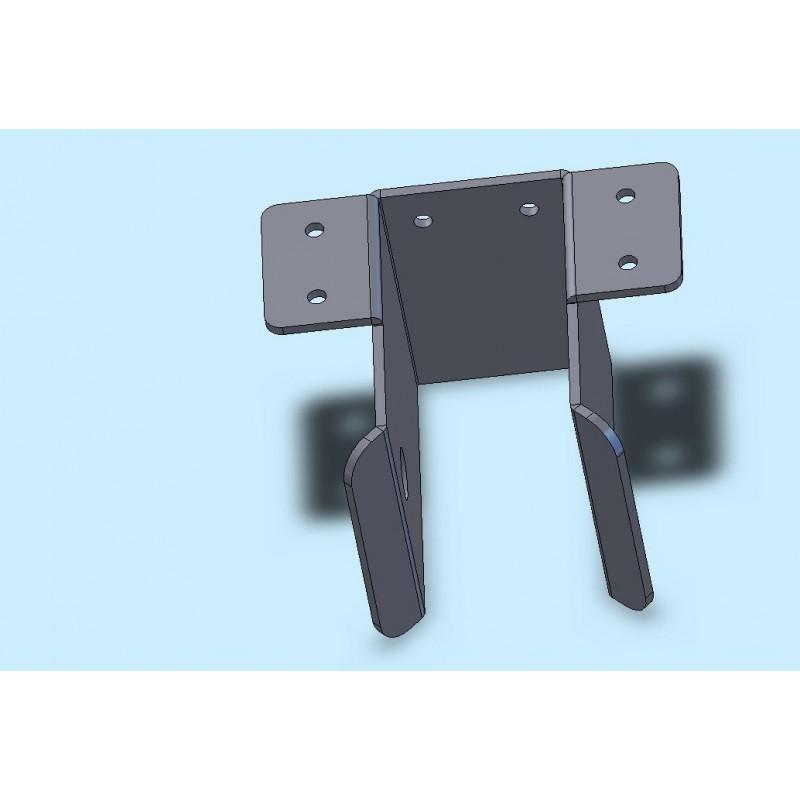 Chape pour timon en 60x60mm pour remorque bagagères BAG0351 et BAG0391