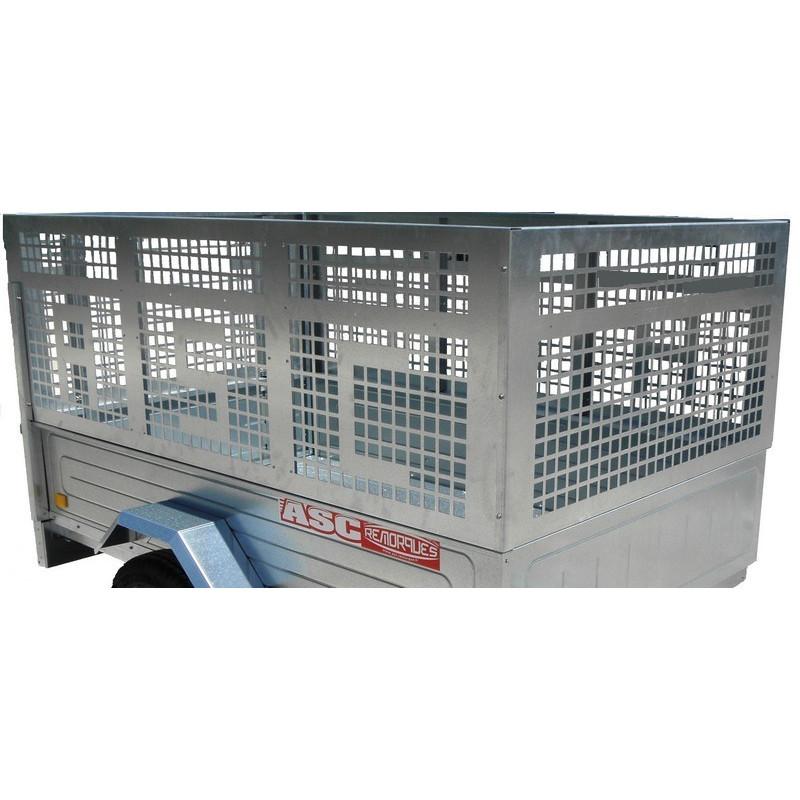 Rehausses en tôle ajourée pour remorque bagagère - 1440x1210 mm