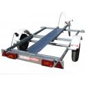 Remorque porte moto MO0261 - caisse 2x1,13m - PTAC 350kg