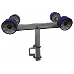 Balancier double pivotant 4 galets 100mm GM2 avec chandelle 40x40x500mm pour tube en 40x80mm