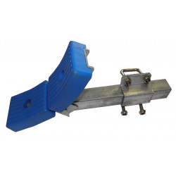 Ensemble 2 patins courbés 130x100mm GM avec chandelle en 40x40x400mm pour tube 80x40mm