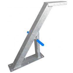 Potence nue en tube 60x60 mm avec renfort en 60x30 pour timon en 60 mm