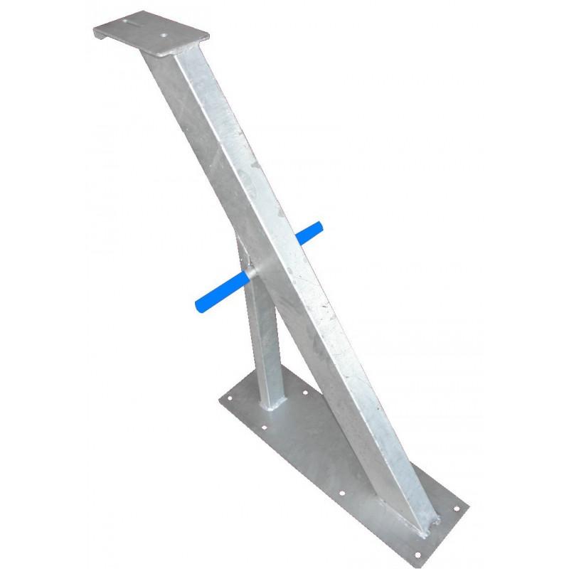 Potence nue en tube 100x50 mm avec renfort en 50x50 pour timon en 80 mm