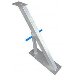 Potence nue en tube 100x50 mm avec renfort en 50x50 pour timon en 120 mm