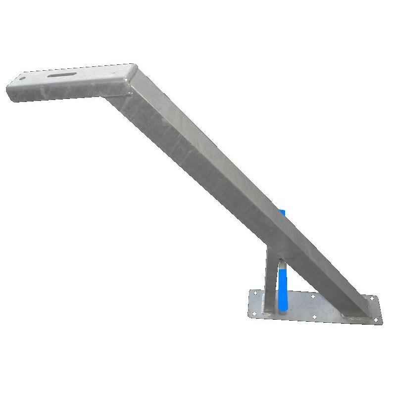 Potence nue haute en tube 60x60 mm avec renfort en 60x30 pour timon en 60 mm