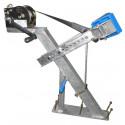 Potence complète en tube 60x60 mm pour timon en 60x80 mm - avec patins