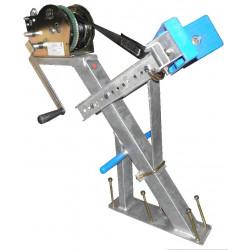 Potence complète en tube 60x60 mm pour timon en 60x120 mm - avec patins