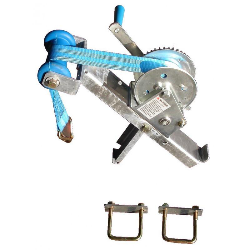 Potence complète en tôle pliée pour timon en 60 mm