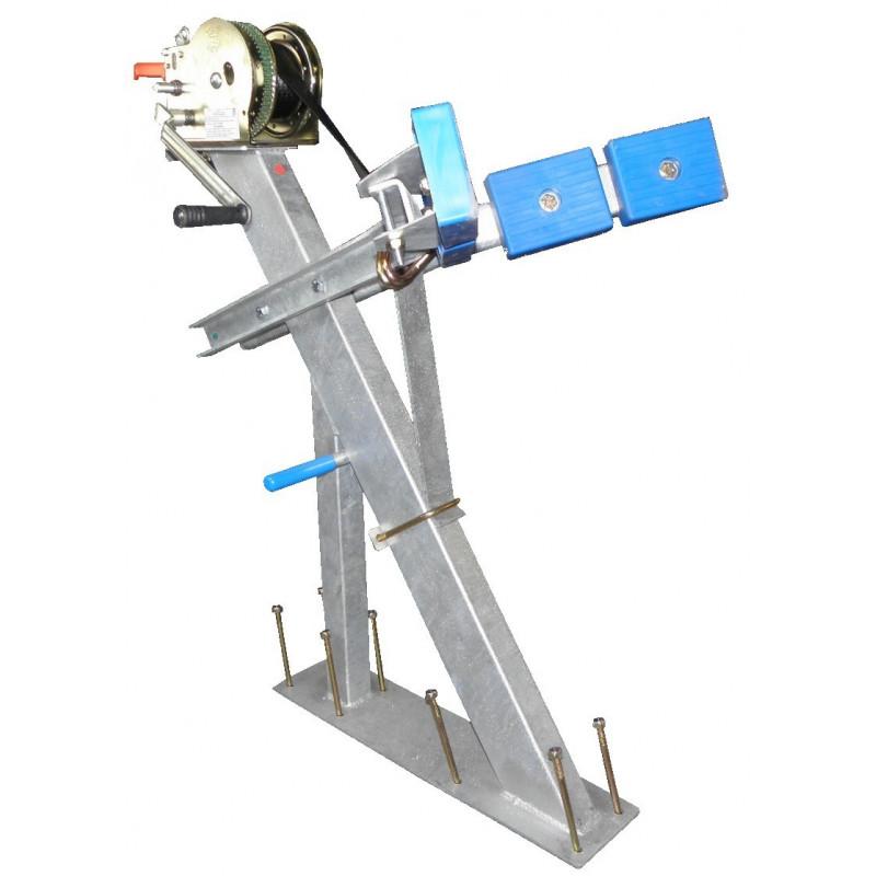 Potence complète en tube 100x50 pour timon en 80x120 mm - avec patins