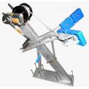 Potence complète en tube 100x50 mm pour timon en 120x120 mm - avec patins